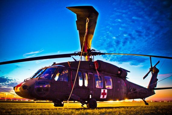 Art Print Silhouette of U.S. Army UH60 Blackhawk by OLD81STUDIOS, $10.00