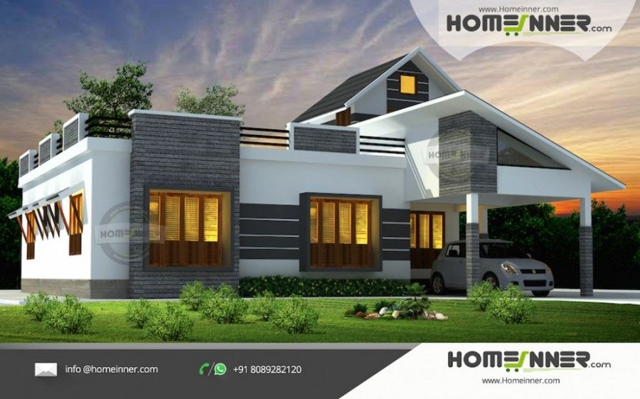 1676 Sq Ft Simple Low Budget House Plan Kerala House Design Architectural House Plans House Architecture Design