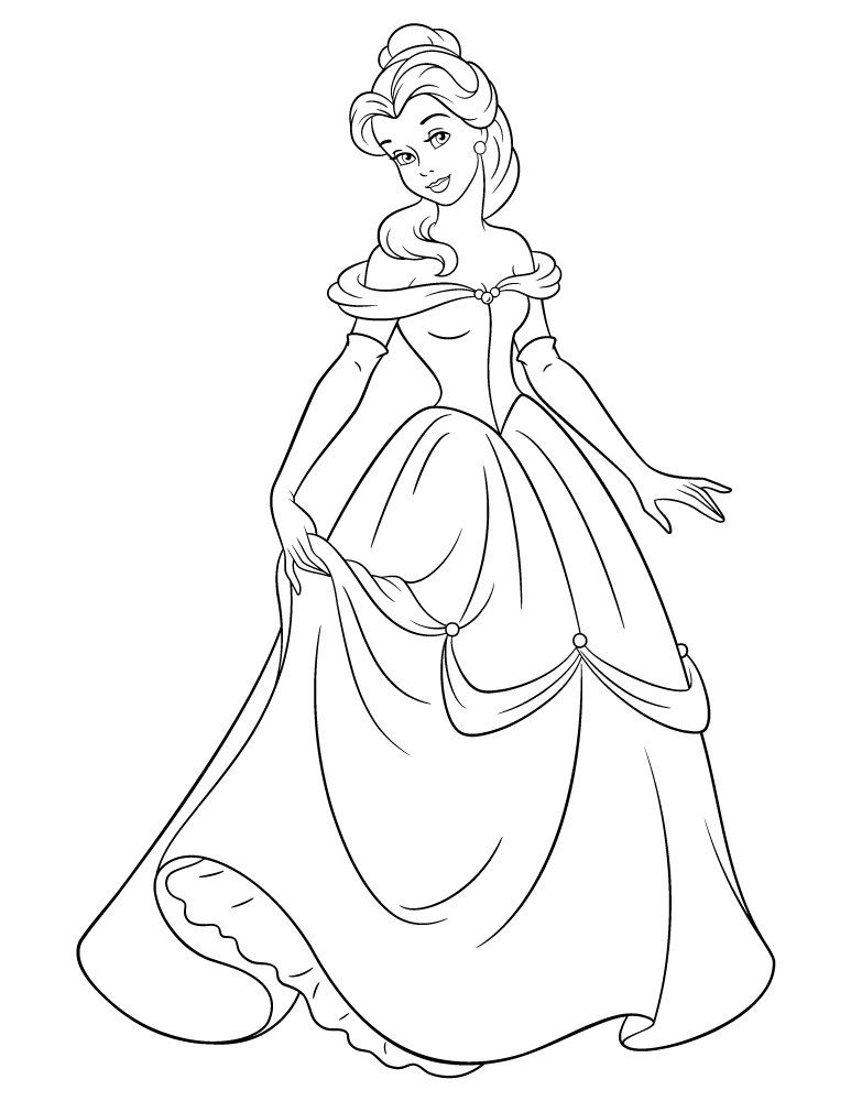 Coloriage disney princesse belle imprimer disney colors bujo and cricut - Coloriages princesse ...