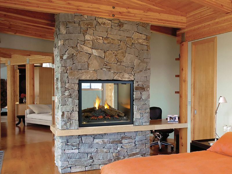 Fireplace Half Wall Google Search Home Fireplace Indoor Gas Fireplace See Through Fireplace