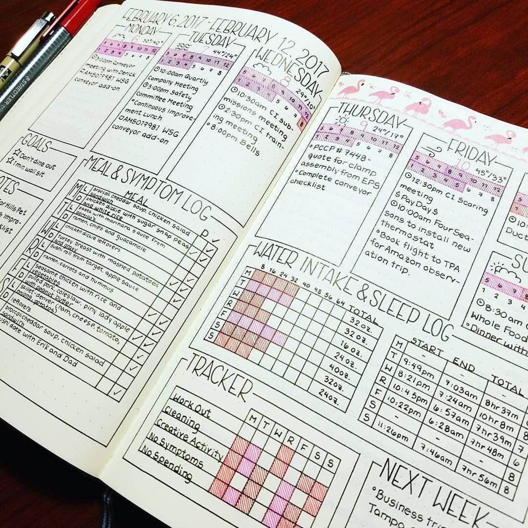 Last week was a busy one! This layout is working great! #bujocommunity #bulletjournaljunkie #bulletjournaljunkies #bulletjournal #bulletjournaling #bujojunkies #bujojunkie #bujo #bulletjournalspread #weekly #weeklyplanner #planner #journal #weeklycalendar #february #februarycalendar