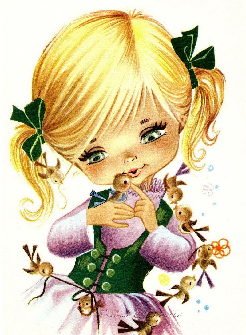 Смешная девочка рисунок картинка