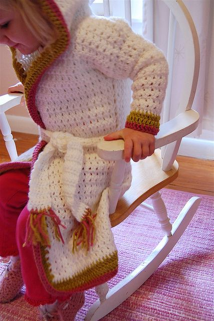 crocheted robe by Maker Mama