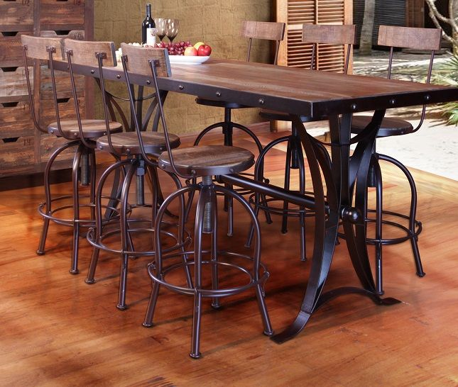 Image Result For Counter Height Dining Table Bases Iron