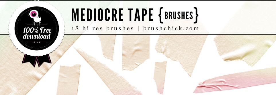 """Free Photoshop Brushes #22 – """"Mediocre Tape"""" Brushes Pt. 1 #photoshop #freeresources #brush #free"""