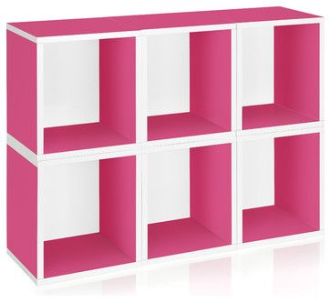 Way Basics Stackable Storage, Pink, 6 Cubes - modern - Storage ...