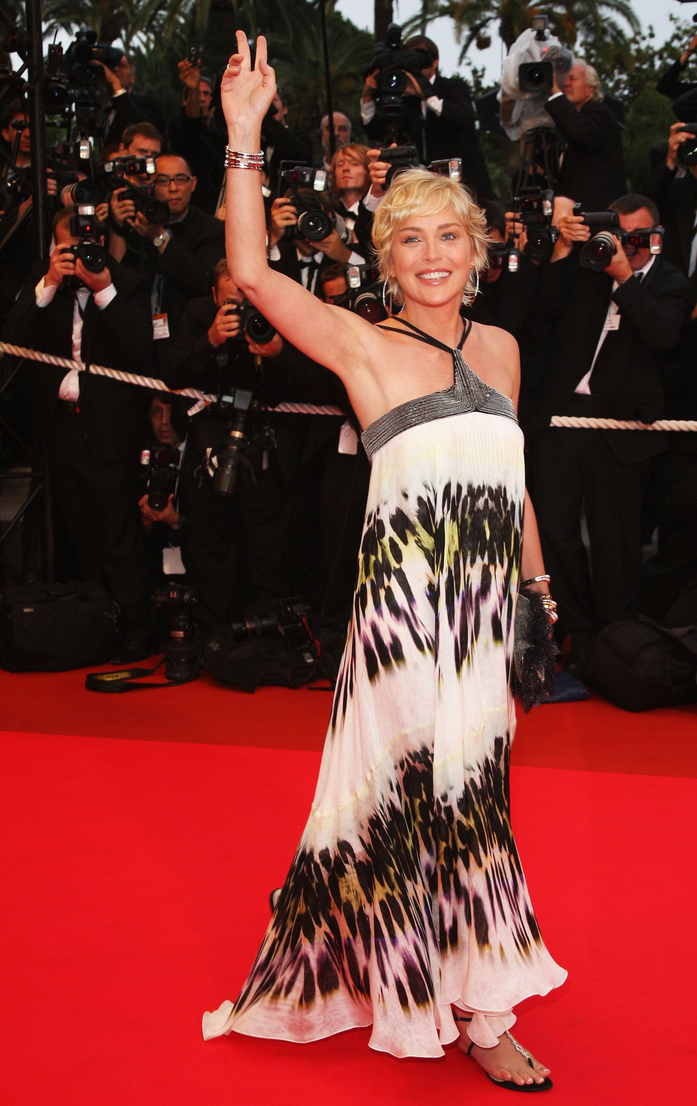 Sharon stone spiky short haircut for older women over 50 getty images - Sharon Stone