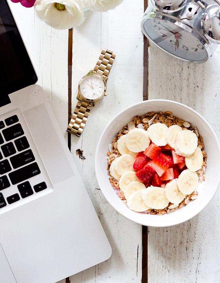 breakfast + work