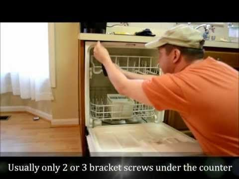 How To Remove Replace A Dishwasher Part I Removal Youtube