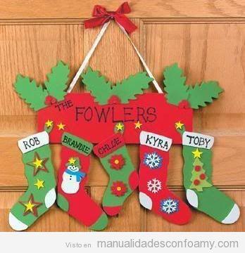 Adornos de navidad de foamy o goma eva f ciles de hacer for Decoraciones navidenas faciles de hacer