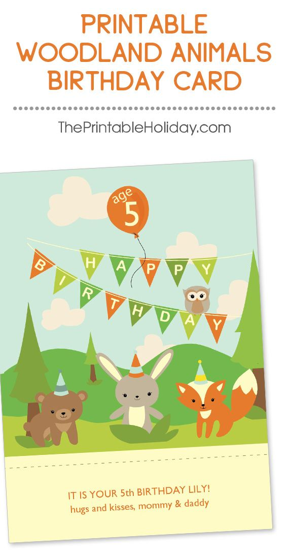 All of your favorite woodland animals send happy birthday wishes - birthday wish template