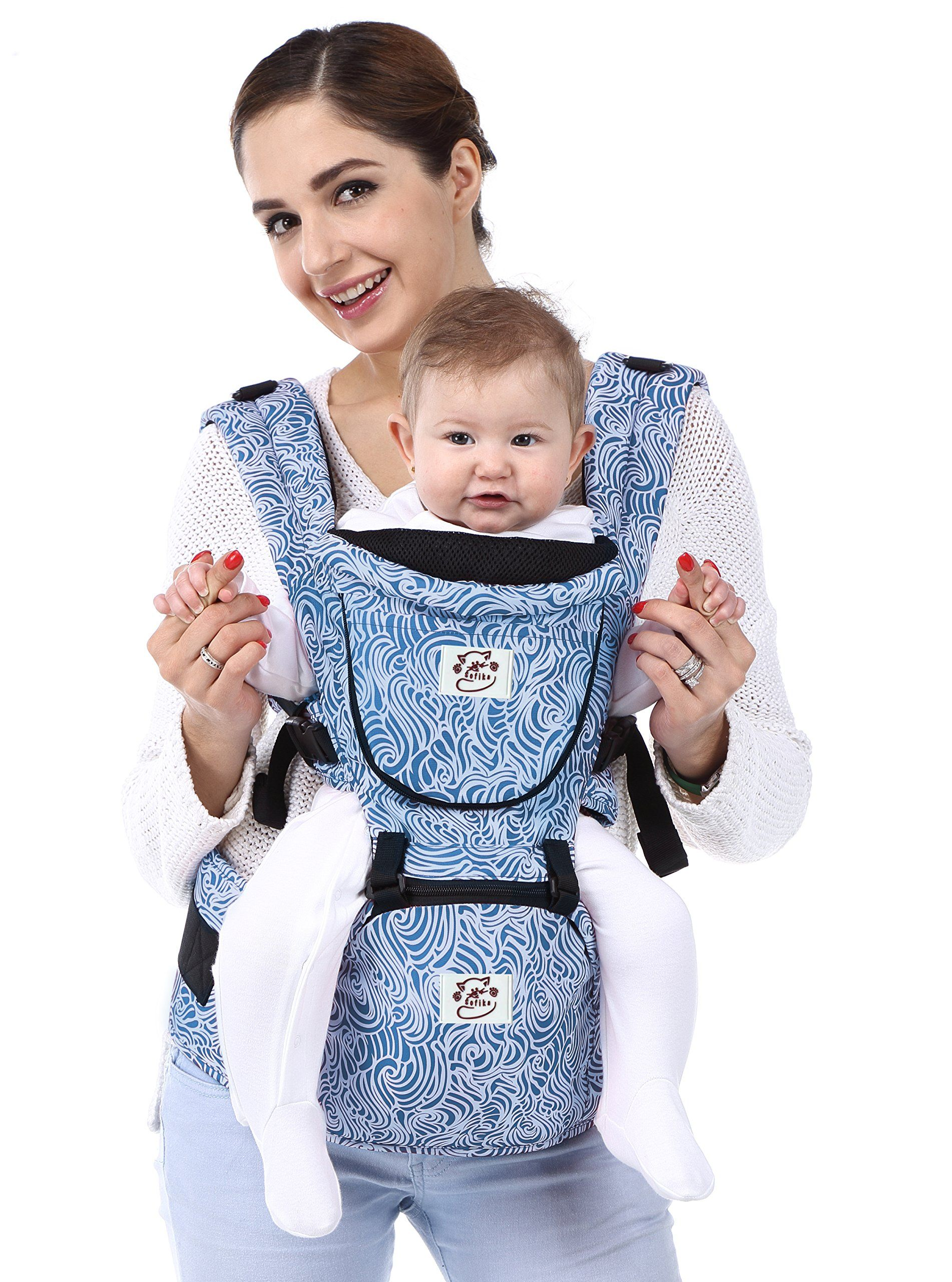Sofika Baby Carrier With Hip Seat Front Back And Hip Adjustable