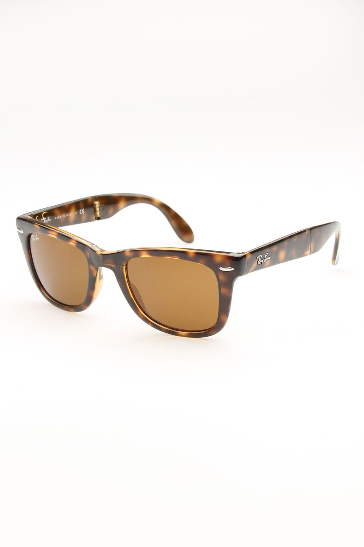 ray ban folding wayfarer sunglasses in shiny havana jewelry rh pinterest co uk