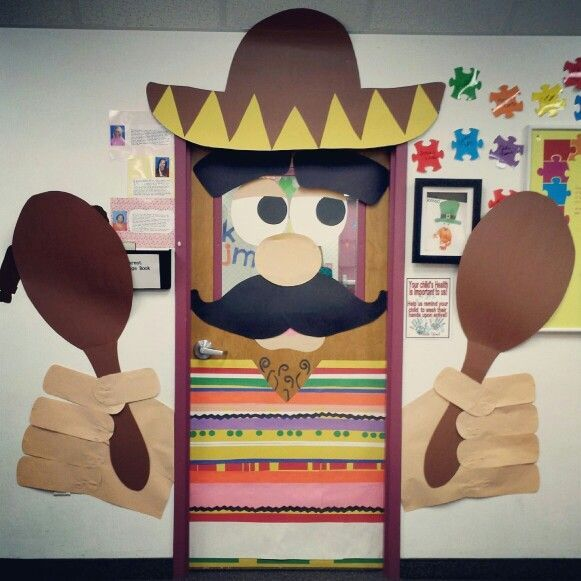 Image of classroom door decorations for cinco de mayo for Decoration 3d games