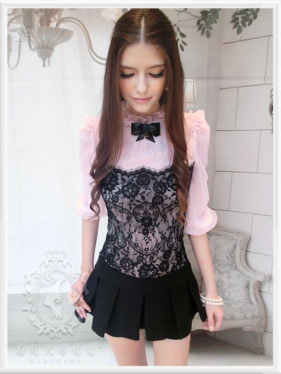 Japan Cutie Gyaru Princess Empire Hi Waist Ruched Cinch Corset Tutu skirt White