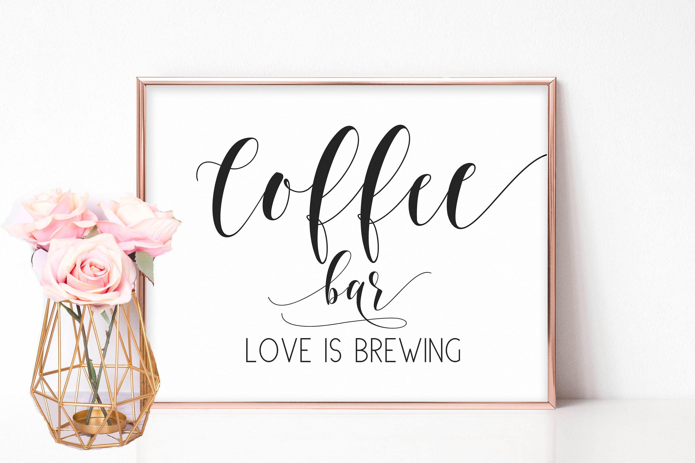 Wedding Coffee Sign, Barn Wedding Decorations, Bridal Shower Signs ...