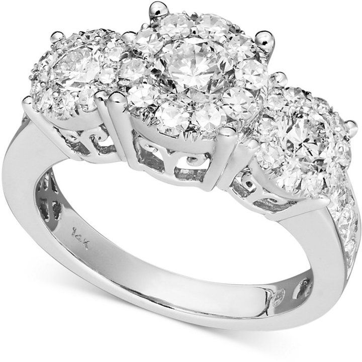 Prestige Unity Diamond Engagement Ring In 14k White Gold 1 2 Ct T W On Style