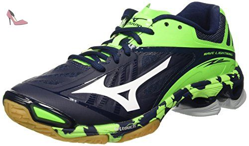 promo code 34d2a bdd6e Mizuno Wave Lightning Z2, Chaussures de Volleyball Homme, Blu  (Dressblues White