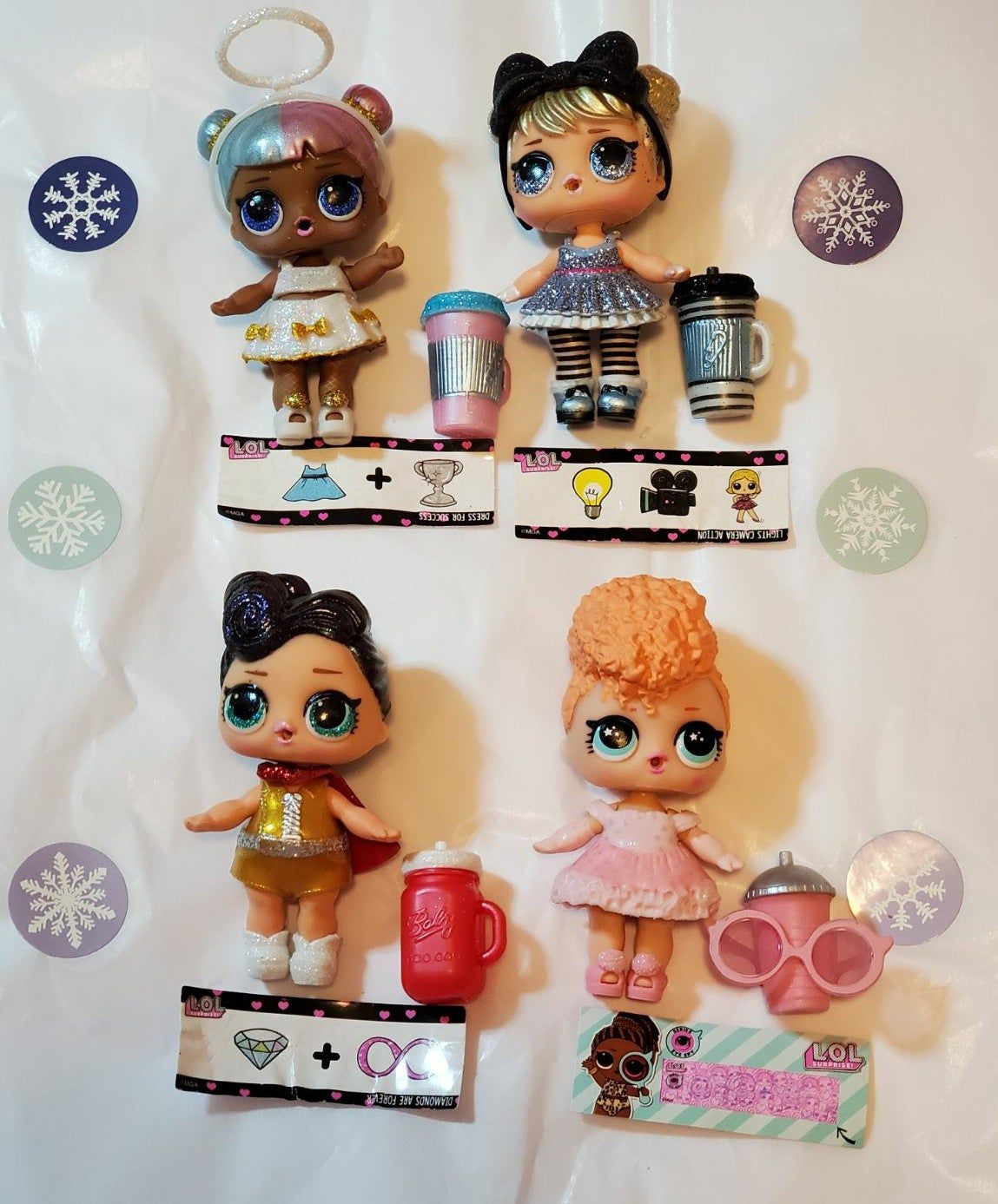 Lol Surprise Dolls Glam Glitter Series and Eye Spy Series