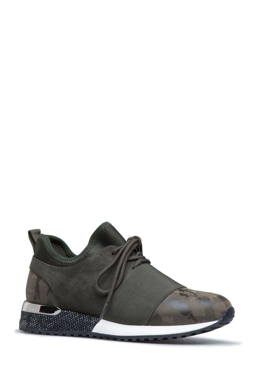 Callie mixed material sneaker  e6f949057
