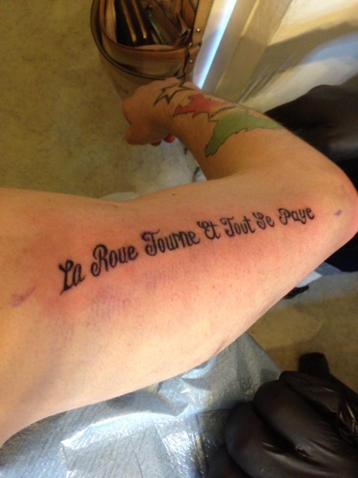 La Roue Tourne Et Tout Se Paye Mes Tatouages Fonts