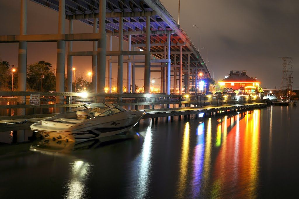 Panoramio Photo Of Under The Bridge At Outriggers Kemah Tx