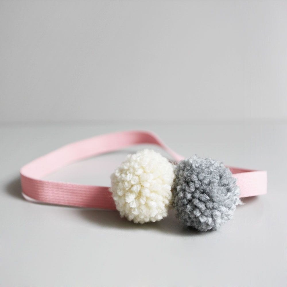 Hairband Pompom Klein Mode Baby Diy Pompoms