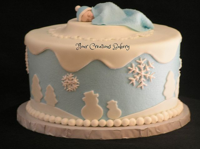 Winter Baby Shower Cake | Flickr - Photo Sharing!