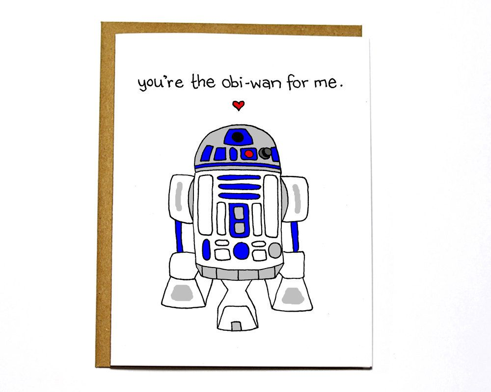 Funny star wars r2d2 card valentine card youre the obi wan for funny star wars r2d2 card valentine card by darkroomanddearly 400 bookmarktalkfo Choice Image