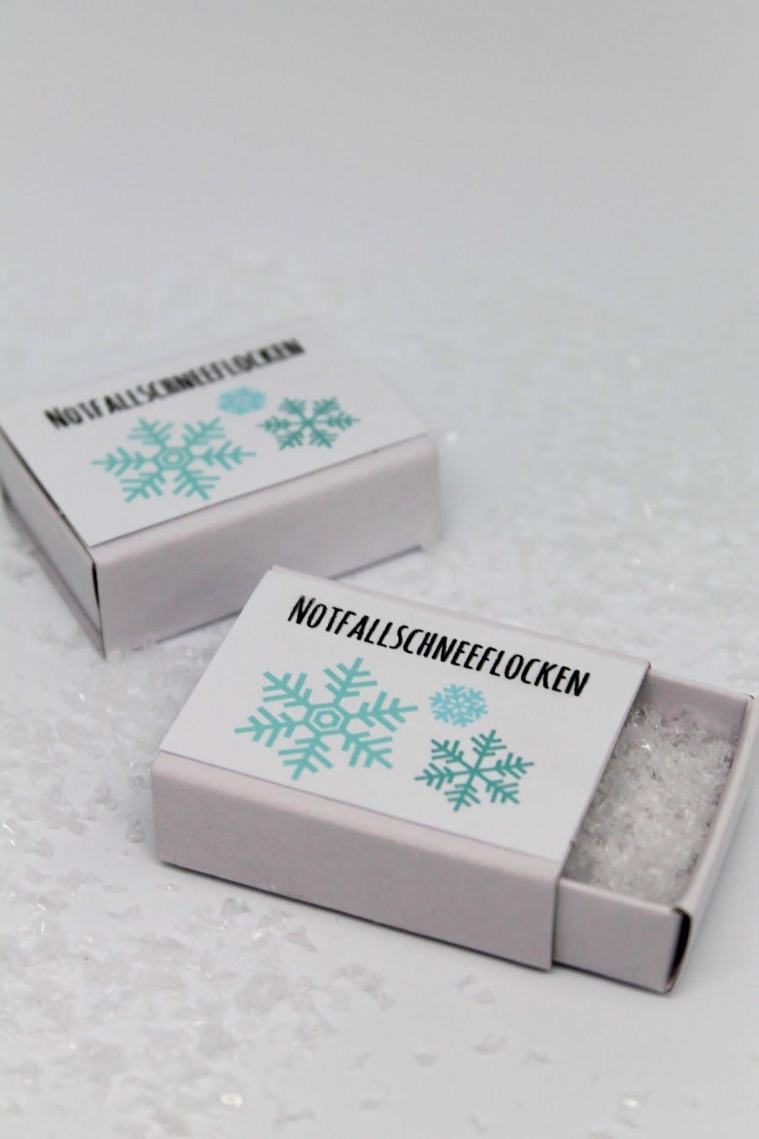 DIY schnelles Wichtelgeschenk: Notfallschneeflocken + gratis Vorlage