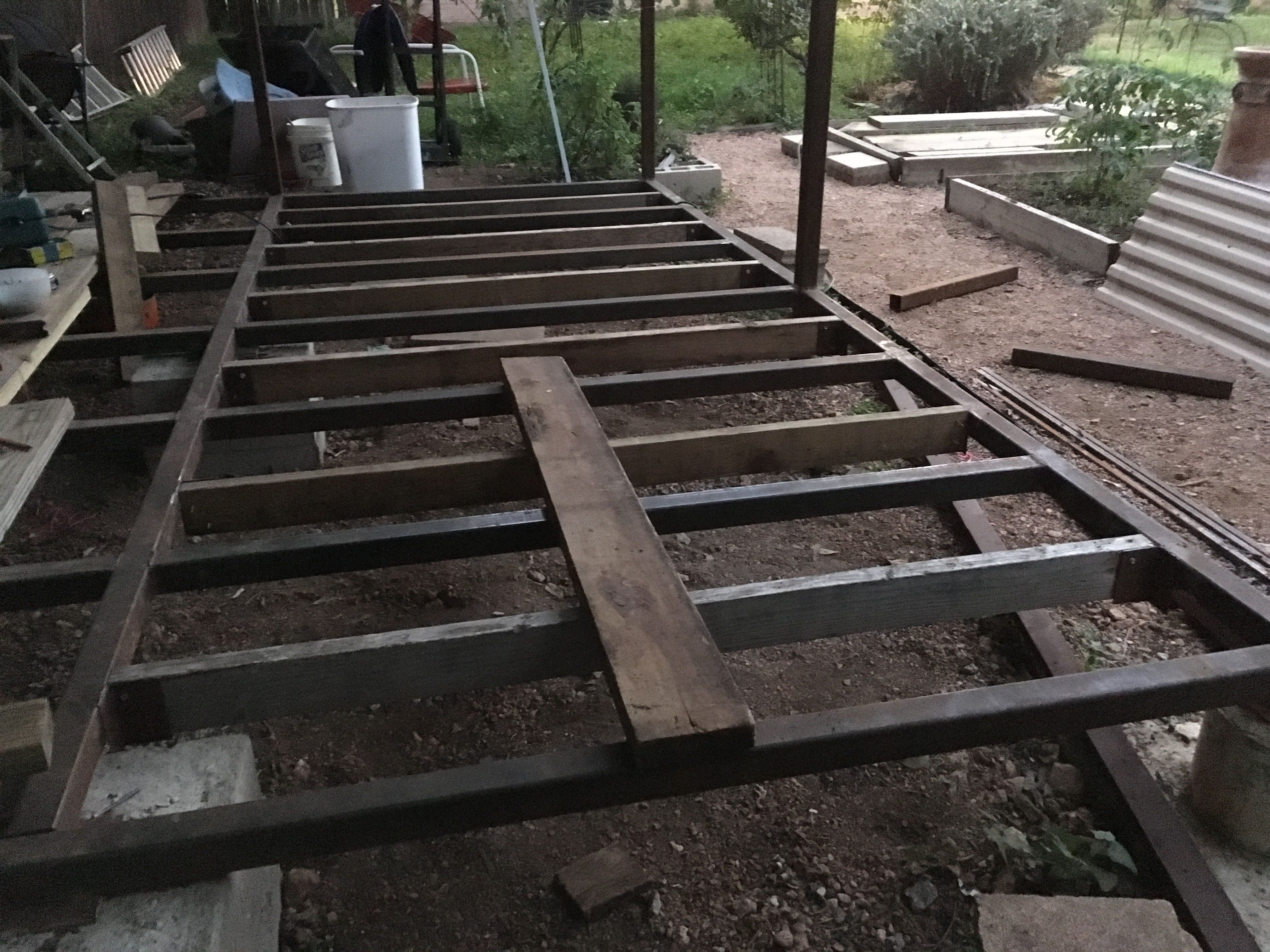This Shed Floor Structure Uses A Pier And Beam Concept That Combines 2x2 Steel Joists With 2x4 Lumber
