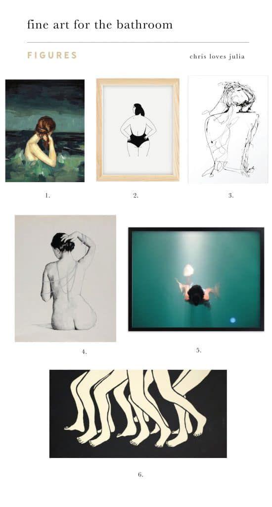 21 Fine Art Pieces For The Bathroom #bathroomart