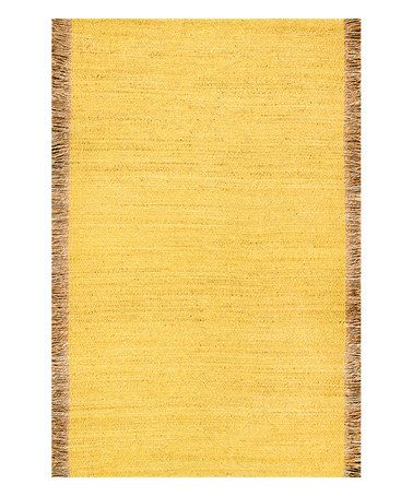 This Yellow Marivel Rug is perfect! #zulilyfinds