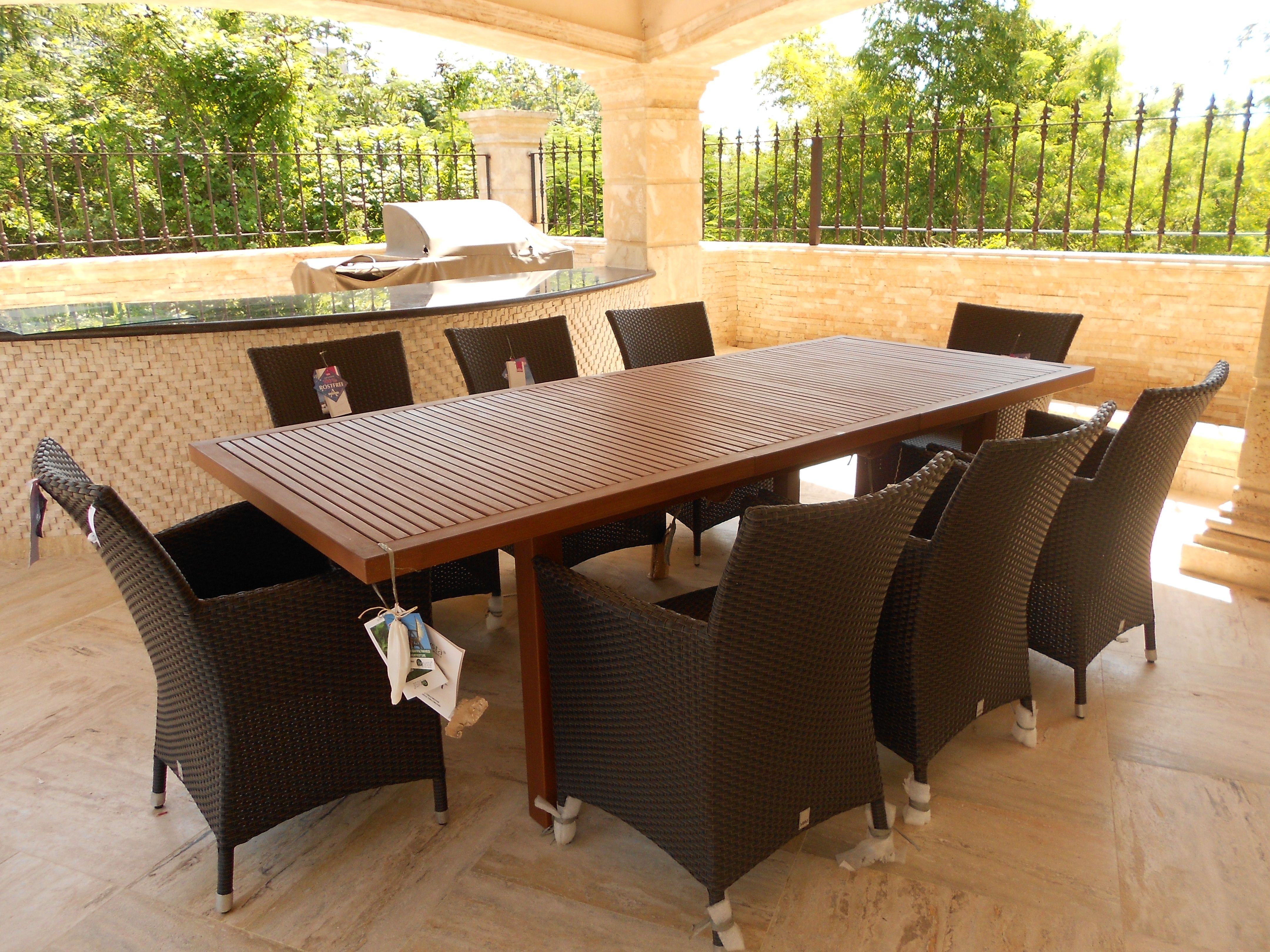 Mbm Furniture Outdoor Furniture Dining Table Setting Furniture