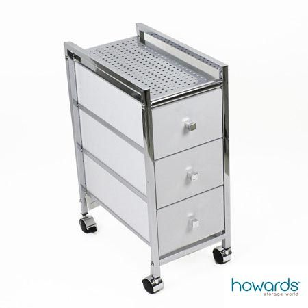 Slim 3 Drawer Cabinet Trolley White A Versatile Trolley