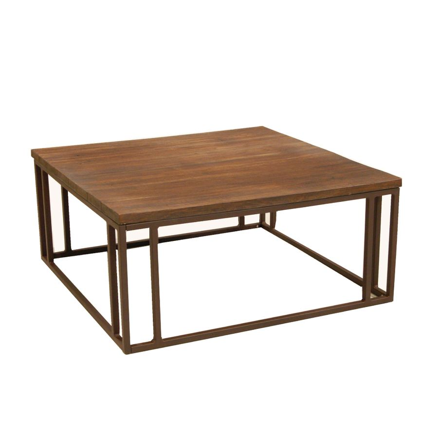 Allen Roth Belanore Extruded Aluminum Square Patio Coffee Table At Lowes