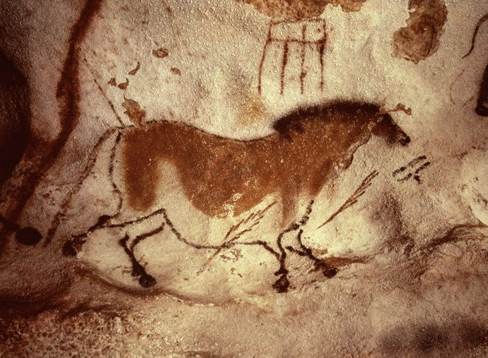 Cave paintings in south west france