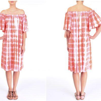 Sommerkleid mit Carmenausschnitt | Nachhaltige mode ...