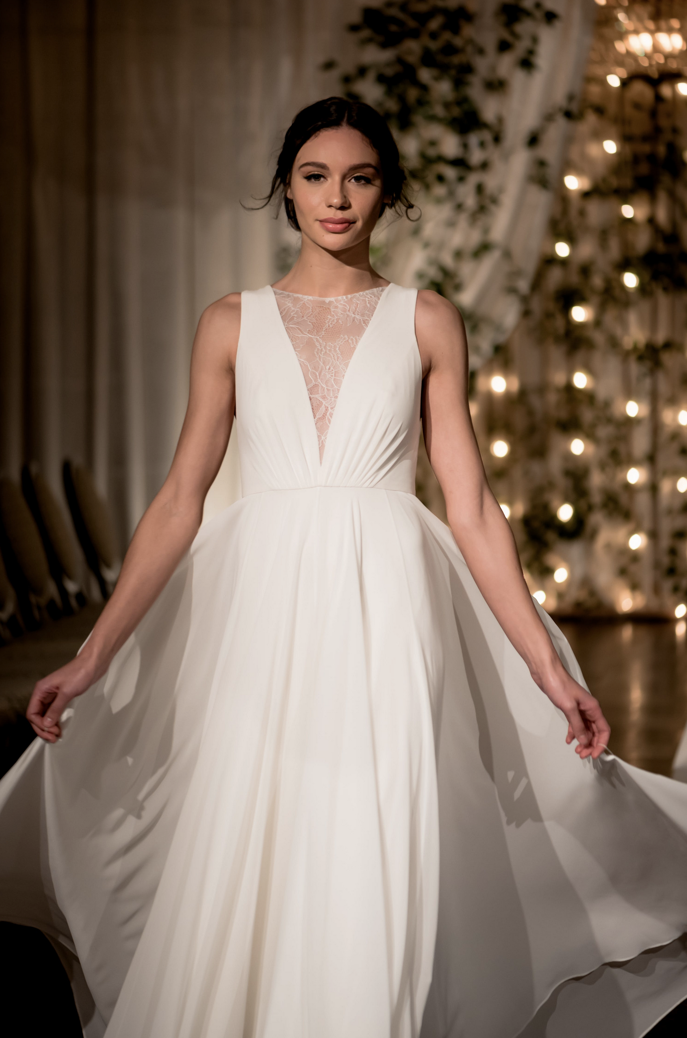 12fc29a85e The Fallon gown, part of our 'Jenny by Jenny Yoo' Bridal Collection,  features a plunging V-neck that elongates the neck and brings attention to  the smallest ...