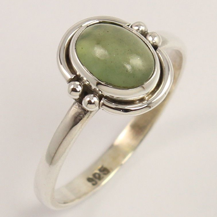 NEW 925 Sterling Silver Ring Size US 7 Natural SERPENTINE Gemstone Manufacturer…