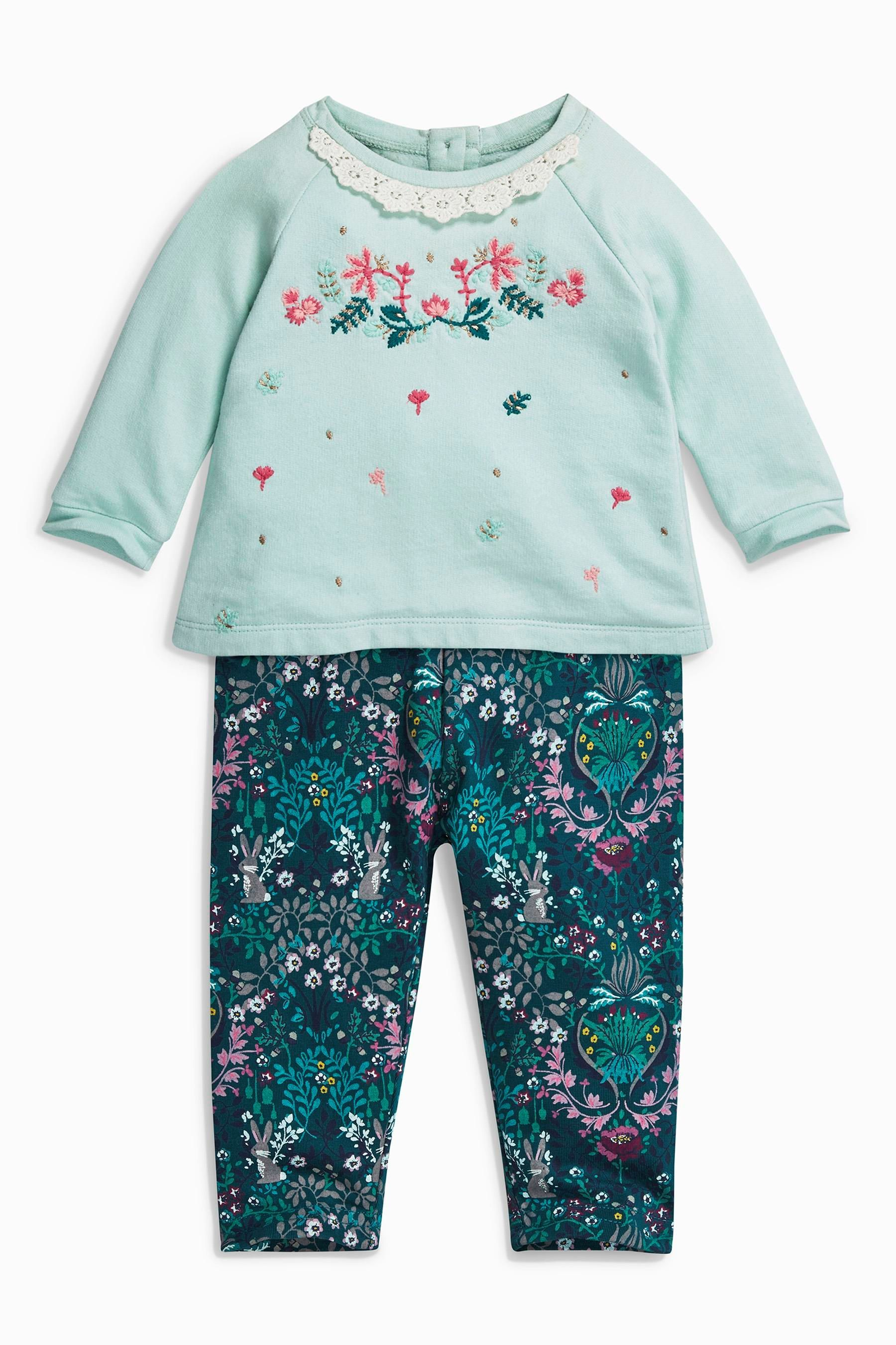 Buy Mint Floral Tunic And Leggings Set 0mths 2yrs from the Next UK