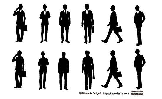 Businessman シルエット イラスト シルエット 素材 シルエット