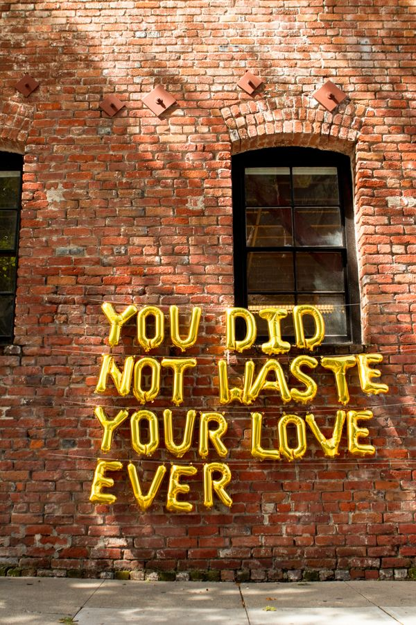 You Did Not Waste Your Love Ever / Poetry Balloons – Catherine Masi