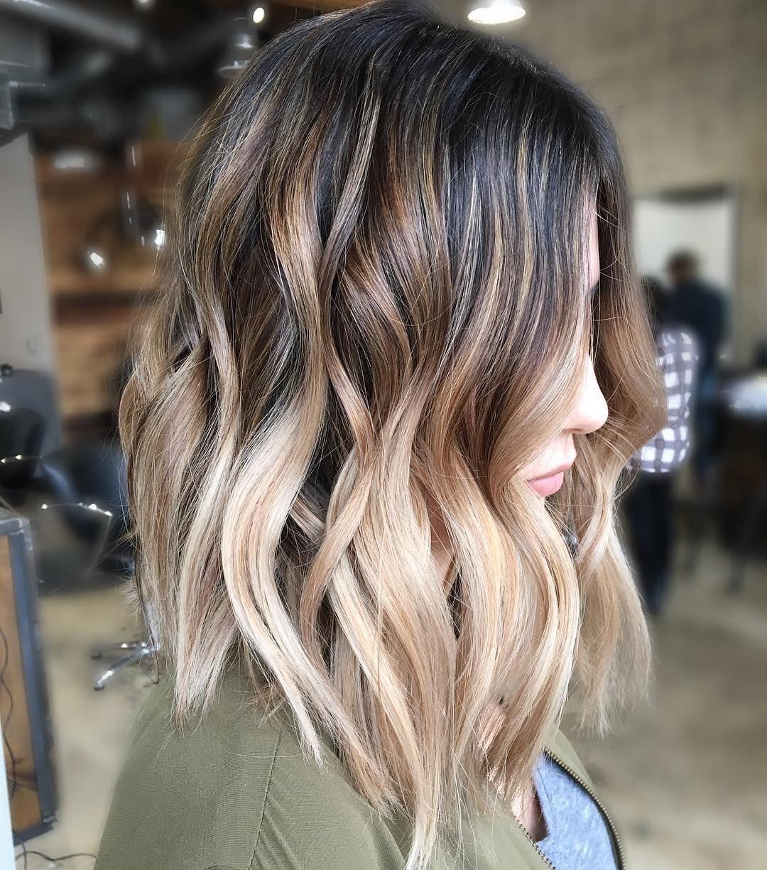 Pretty Balayage Ombre Hair Styles For Shoulder Length Hair Medium Haircut Color Ideas Hair Styles Balayage Hair Hair Color Balayage