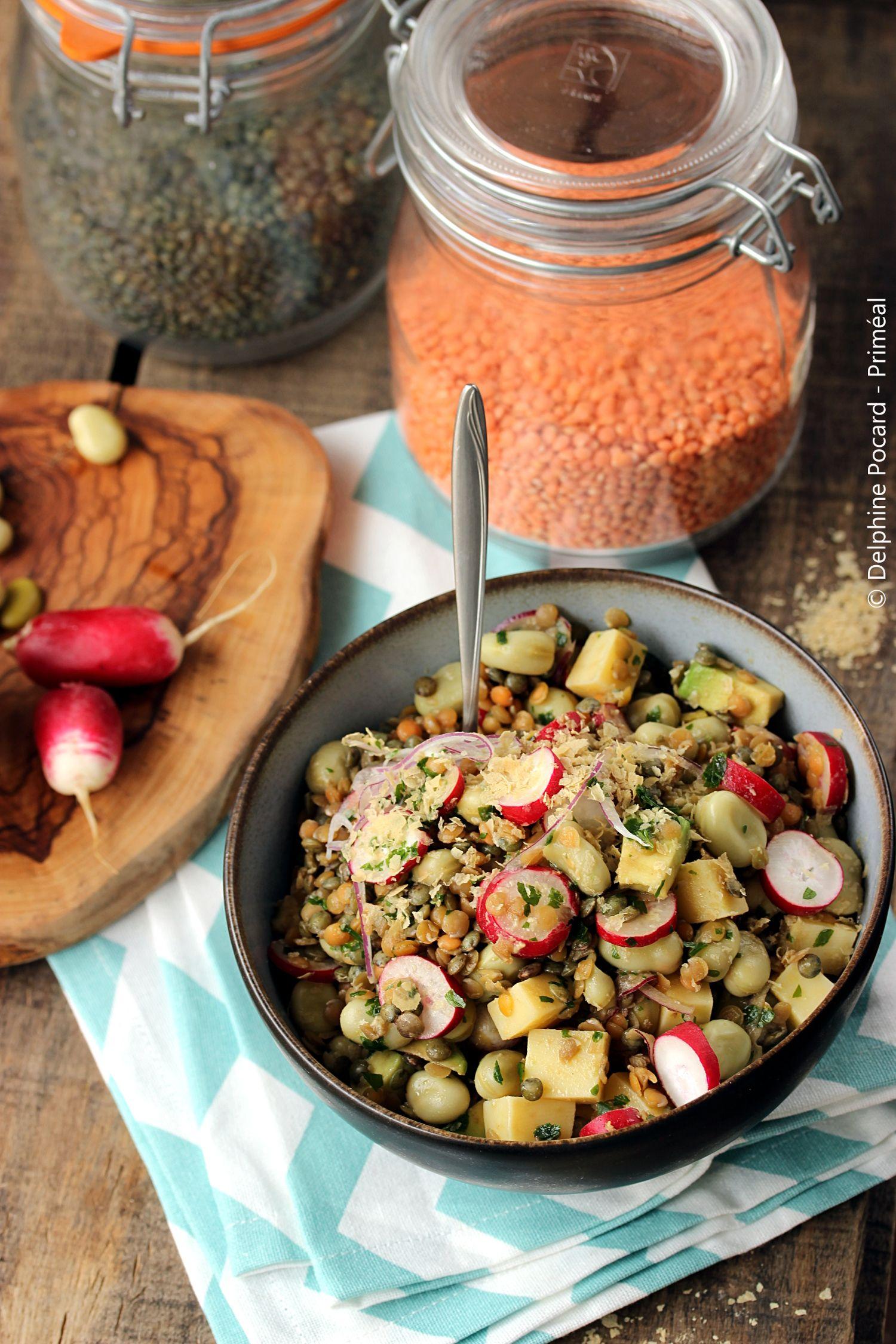 Recette végétarienne - Salade gourmande de lentilles et ...