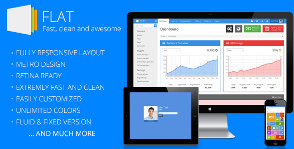 11 Flat Ui Bootstrap Themes And Templates Ui Ux Templates