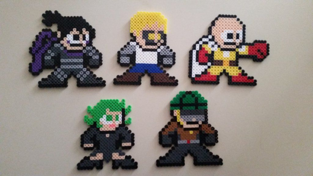 8 Bit Anime Characters : Perler bead bit one punch man characters by animeking