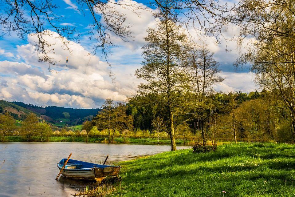 Free Image On Pixabay Boat Rowing Boat Lake Water Passeios De Barco Lindas Paisagens Fotos De Paisagem