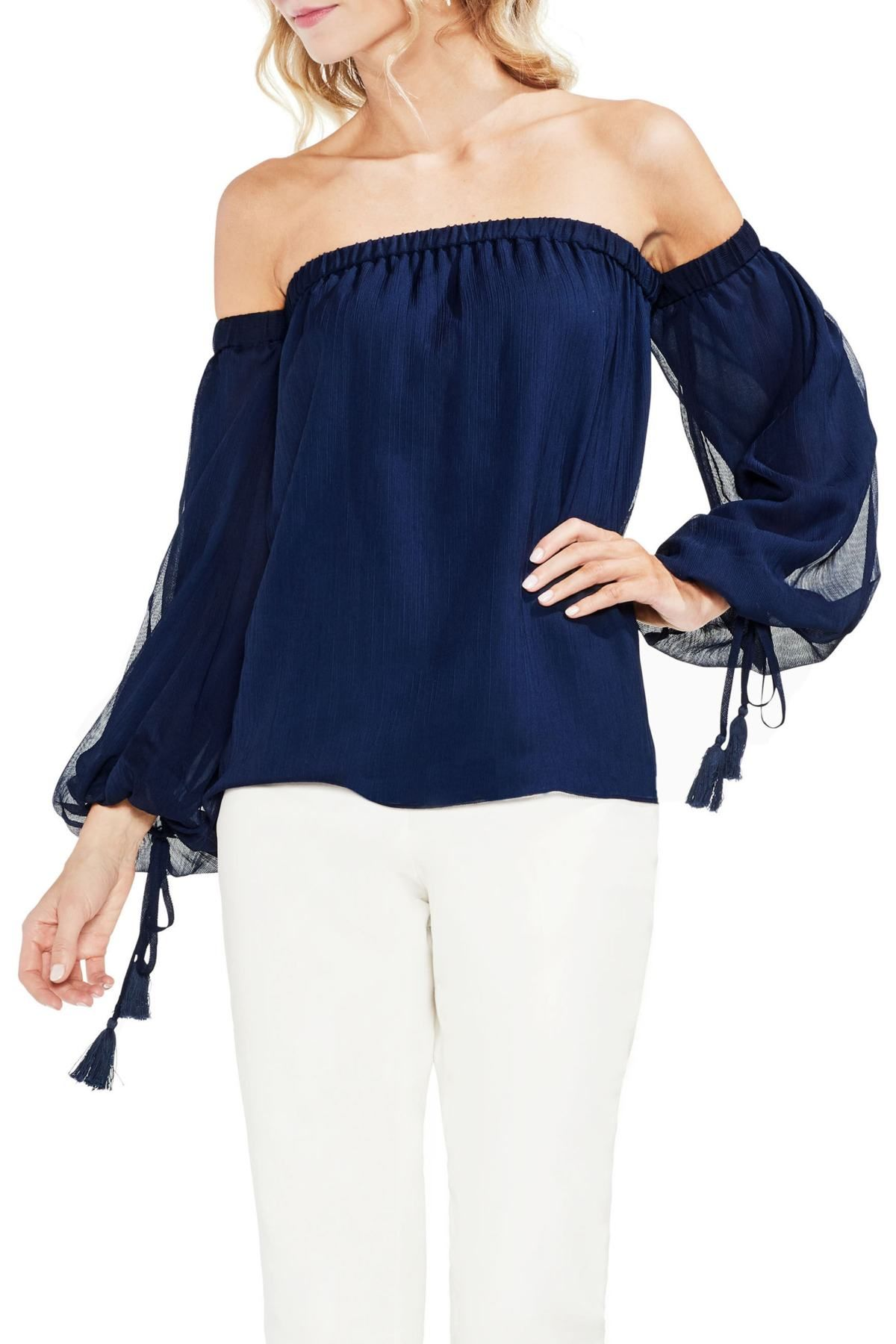 0f13c715e328e Off the Shoulder Bubble Sleeve Blouse by Vince Camuto on  nordstrom rack