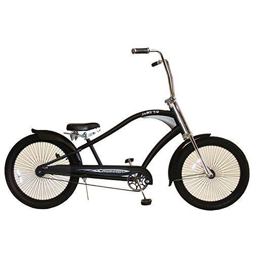Micargi JAOS 3.0 Stretch Cruiser Bicycle, BlackRed, 26 Inch